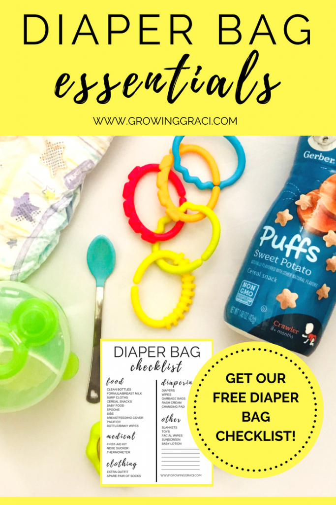 Babies can need a lot of stuff when you leave the house. Check out our list of essential diaper bag items and get your free diaper bag checklist!