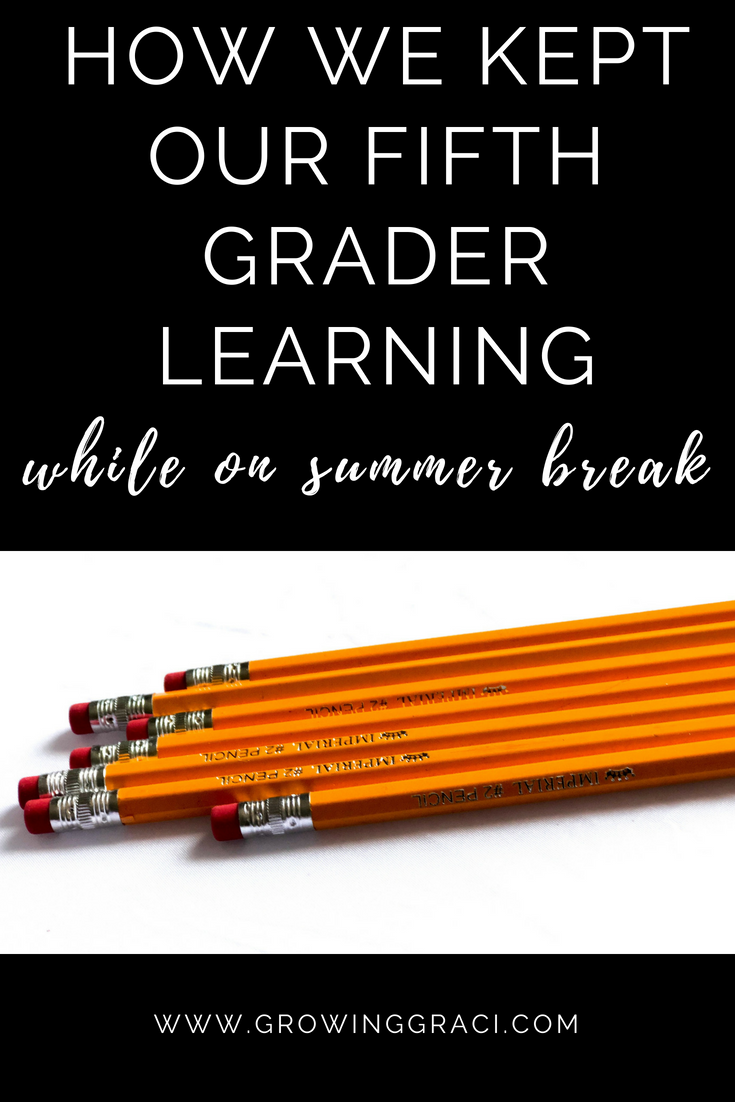Check out how we encouraged summer learning with our fifth grader and see what her routine looked like! Plus, we share our favorite educational tools.