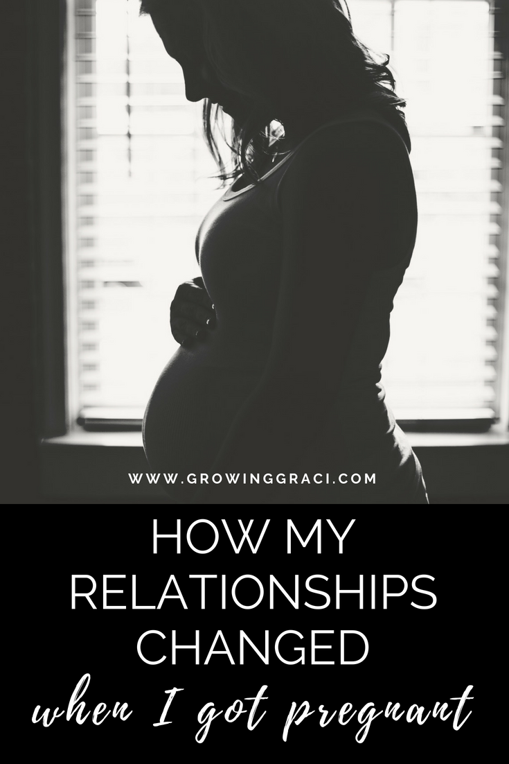 Many things change in your life when you become pregnant - including your relationships. Click to find out my pregnancy put things into perspective.
