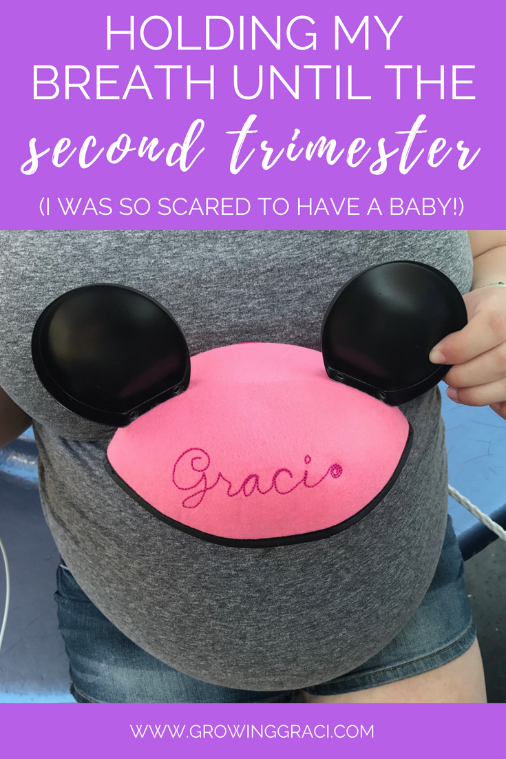 When I was pregnant, I spent the first trimester of pregnancy in a state of shock and felt like I was holding my breath, waiting for the second trimester.