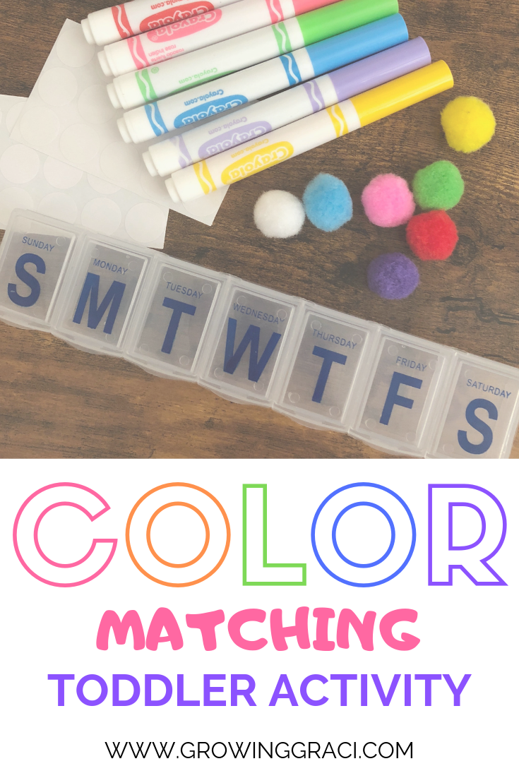 Toddler Activity: Matching Colors With Pom Poms