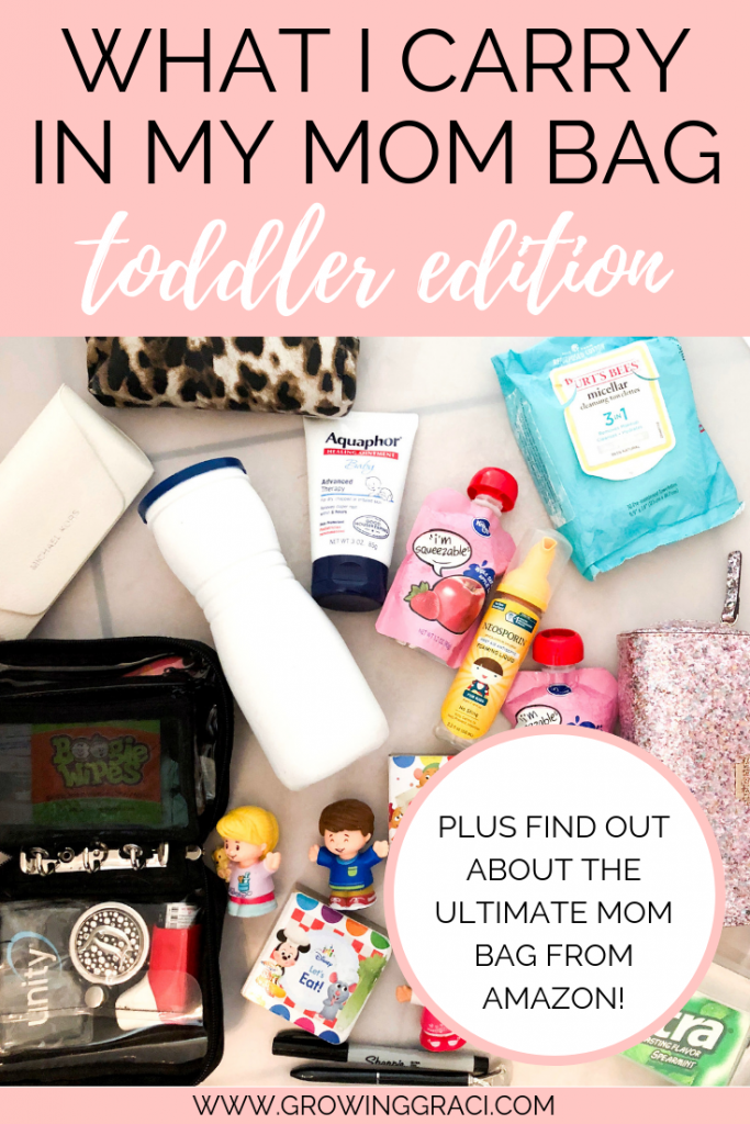 Are you a busy mom to a toddler? Check out my favorite bag for carrying all those extra things for your toddler, plus find out what I carry!