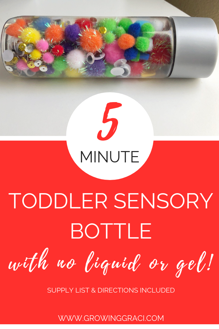 Silly Sensory Bottle For Toddlers (No Liquid or Gel)