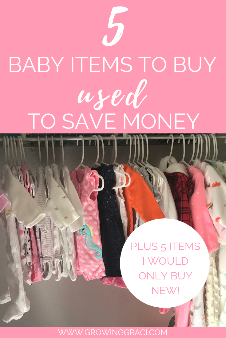 Preparing for a baby can be expensive. Click here to find out what items to buy used for your baby, along with my suggestions on what to buy new!