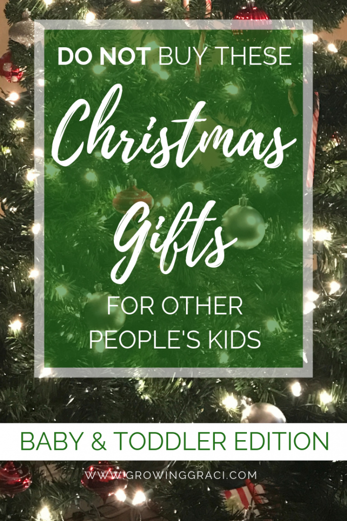 Shopping for baby and toddler Christmas gifts can be difficult. Will the parents be happy with your choice? Check out these ground rules.