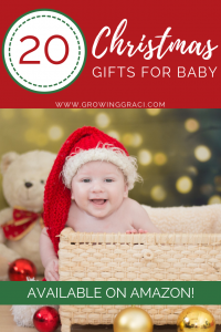 Need baby Christmas gift ideas? We can help! Check out this list of products and find out what products our daughter actually used and enjoyed!