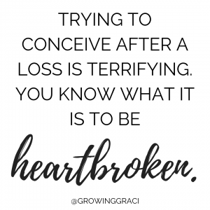 Trying to conceive after miscarriage is terrifying. You know what it mis to be heartbroken.
