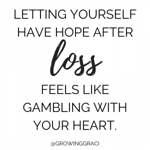 Trying to conceive after miscarriage means letting yourself have hope after loss. It feels like gamboling with your heart.