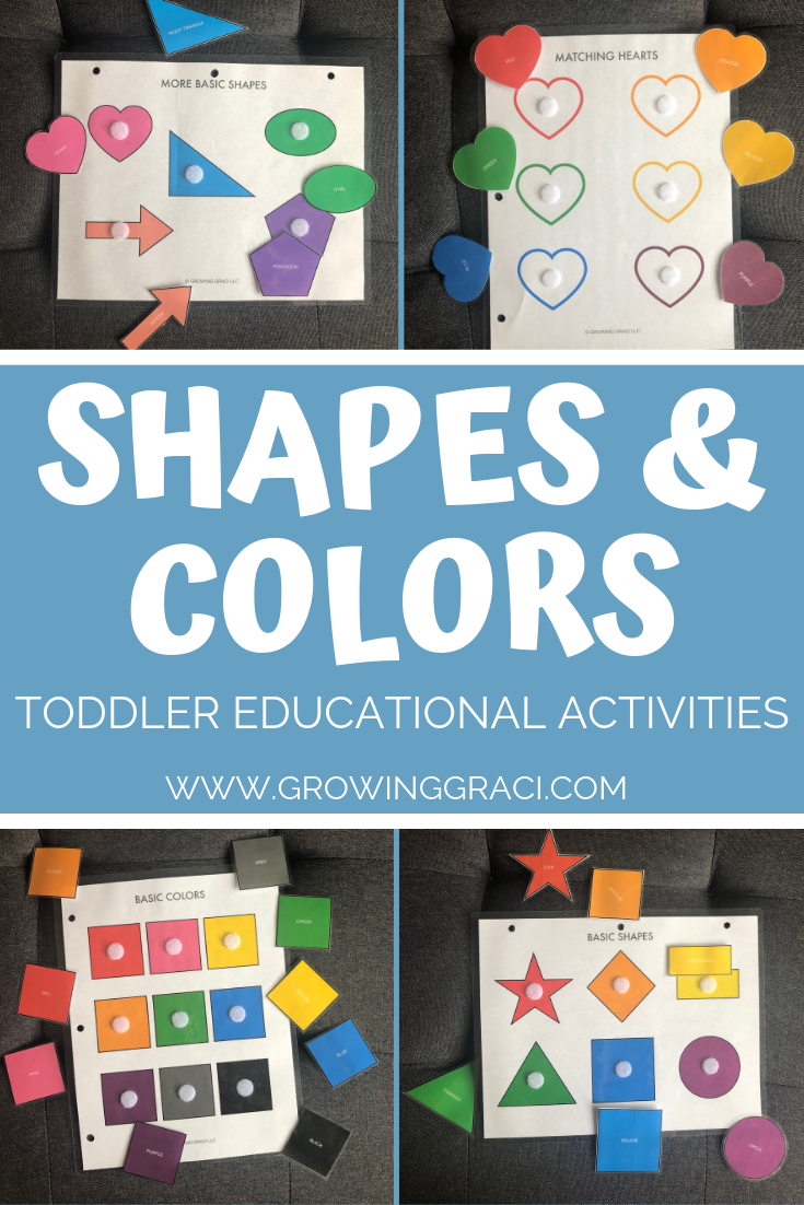 Toddler Educational Activities – Shapes & Colors