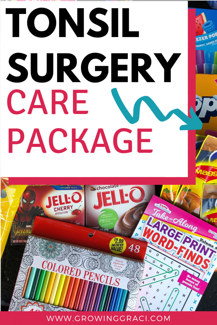 Tonsil surgery isn't something a child looks forward to. Check out these care package ideas to brighten their tonsillectomy recovery.