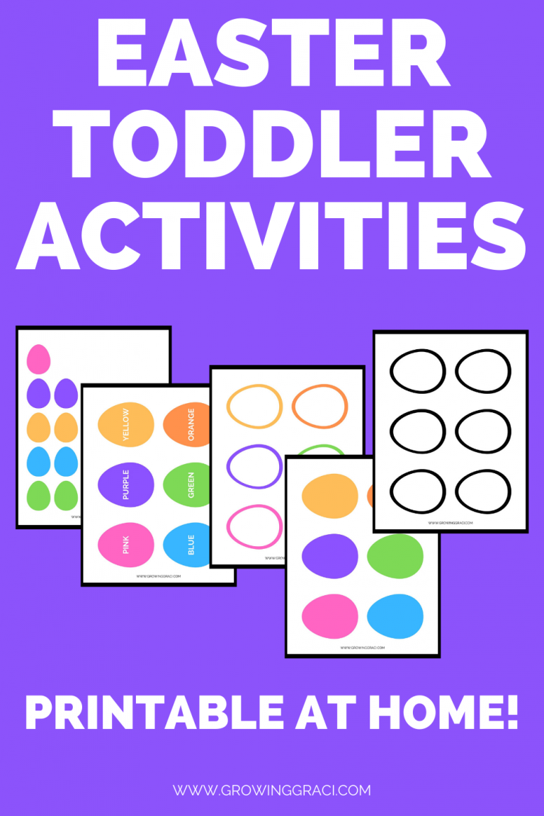 Easy Printable Easter Toddler Activities